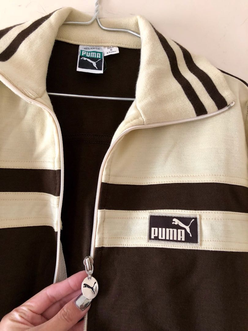 Vintage Original PUMA Boyfriend Sweater Zip Varsity Jacket