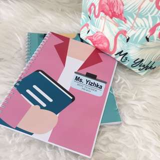 Personalised notebook - female teacher
