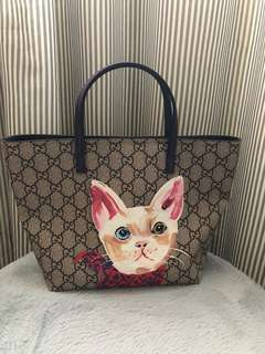 Gucci GG Kitten Tote Bag