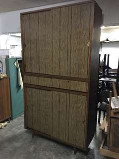 vintage buffet cabinet (solid wood)