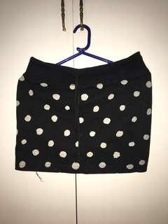Polkadot pencil skirt