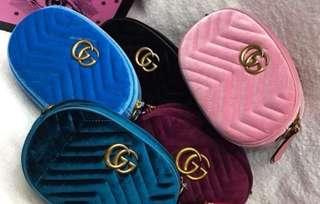 Gucci velvet belt/sling bag
