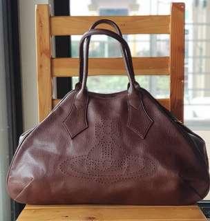 Authentic Vivienne Westwood Rich Brown XL Bowler Dome Bag