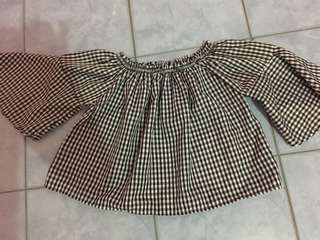 Gingham bell top