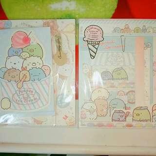 [Left Side LEFT!] Sumikko Gurashi: San-X Official Ice-cream Theme Letter Set ×2 Complete Set