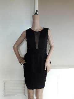 Charlotte Russe black sexy peplum dress