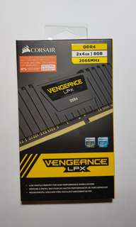 VENGEANCE® LPX 8GB (2x4GB) DDR4 DRAM 2666MHz C16 Memory Kit - Black