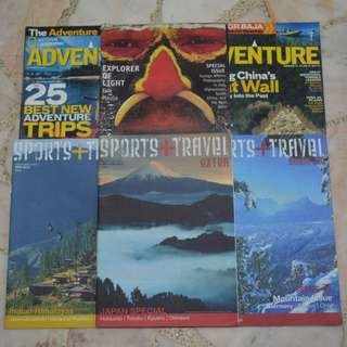 NATIONAL GEOGRAPHIC ADVENTURE & SPORTS + TRAVEL MAGAZINES (6 For $2)