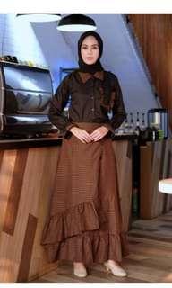 Lubna Hijab Malala shirt and skirt BIG SIZE XL