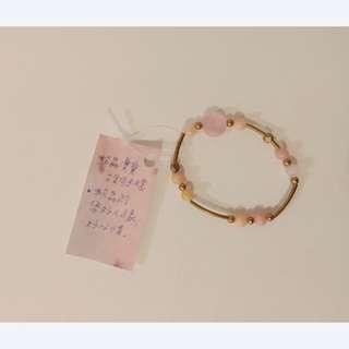 🚚 粉晶古銅手環