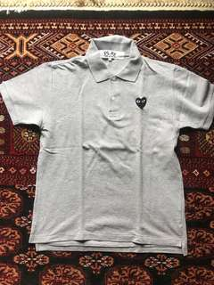 Cdg polo shirt on grey