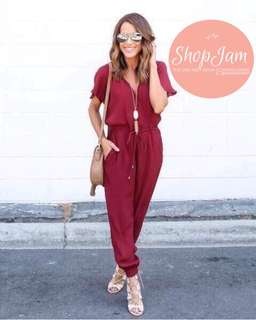 Stacey Jumpsuit (Red, Blue, Black)
