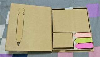 Post It Pad W Pen *Eco Friendly* *Only 2 sets* *Brand New*