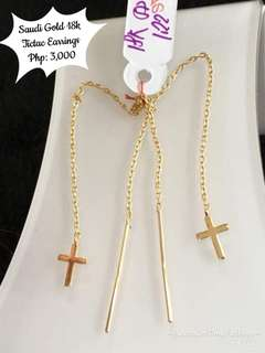Saudi Gold 18k Tictac earrings