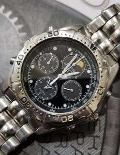 精工moonphase 石英計時錶