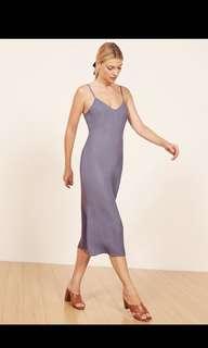 Reformation midi cross back dress
