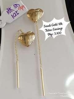 Saudi Gold 18k tictac earrings