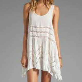 Free People Voile and Lace Trapeze Slip Dress XS