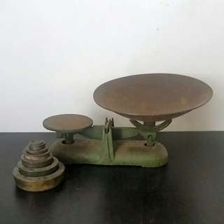 Antique Scale with Brass weights