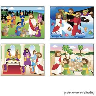 Miracles Of Jesus Mini Sticker Scenes