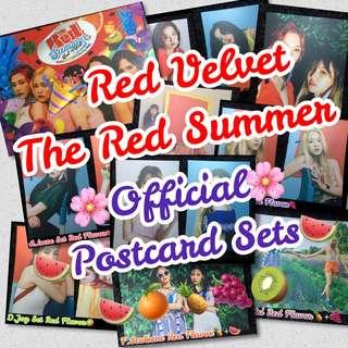 🎉OFFICIAL! RARE Red Velvet Red Summer Postcard Sets