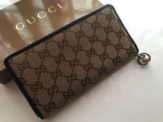 Gucci zip long purse