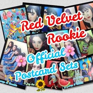 🎉OFFICIAL! RARE Red Velvet Rookie Postcard Sets
