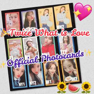 🎉OFFICIAL! Twice What is Love Photocards