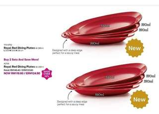 RED ROYAL DINING PLATES