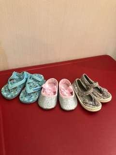 Sepatu sendal anak 3 pasang (havaianas,no brand,next) ORI