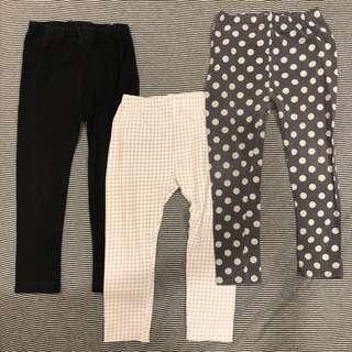 🚚 Uniqlo 男寶寶女寶寶棉長褲內搭褲 - 100
