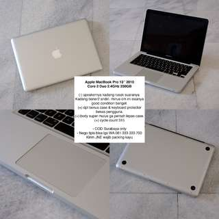 "Apple MacBook Pro 13"" 2010  Core 2 Duo 2.4GHz 250GB"