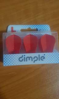 L-Style Dimple Fantail Flights (Red Colour)