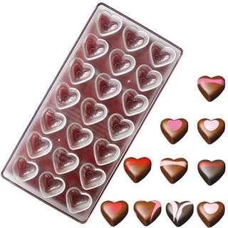 ▪21連愛心形▪DIY巧克力模具/PC環保塑料硬模/手工巧克力模具