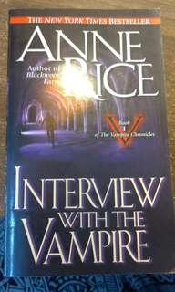 夜訪吸血鬼 原文 英文 安妮萊斯 interview with the vampire Anne .Rice