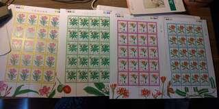 🚚 特414 有毒植物郵票 大全張