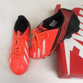 Adidas Neon Orange Football Shoes for KIDS
