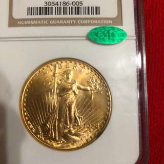 St Gaudens Gold Double Eagle NGC MS64 CAC