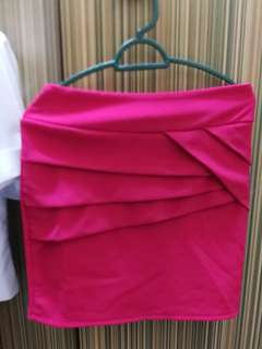 Mini skirt pink colour