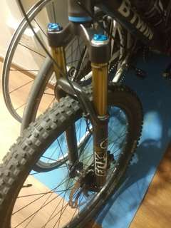 Fox 32 2015 120mm travel gold kashima fork