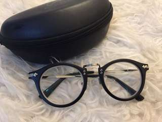 Moscot clear glasses with +1.50 power lens
