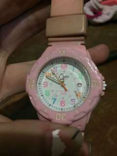 Preloved Casio pink watch