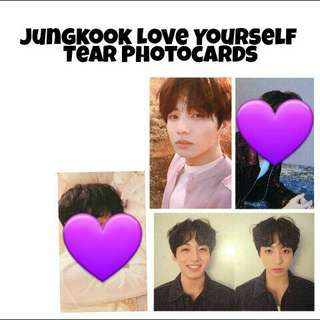 [ WTB ] BTS Jungkook Love Yourself Tear Photocards