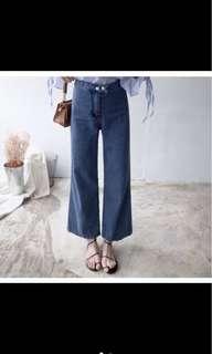 🚚 水莎 寬鬆牛仔褲