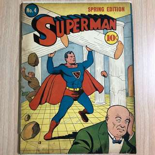 DC COMICS Superman #4-2nd Lex Luthor Appearance (Serious Buyers Only)