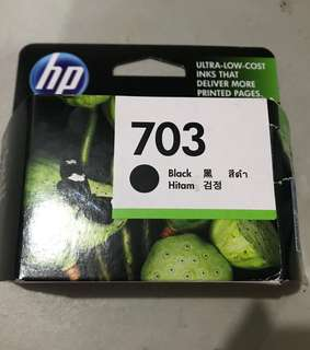 OPENED BUT UNUSED: HP Ink Cartridge #703 (Black)