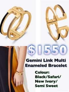 Tory Burch Gemini Link Multi Enameled Bracelets金色手鐲手鈪