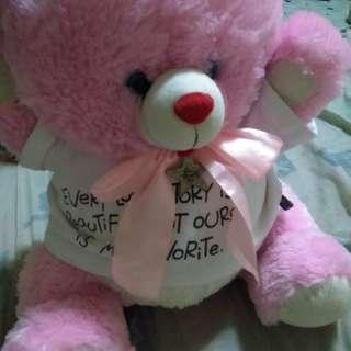 Blue Magic pink bear
