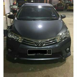 TOYOTA ALTIS G SPEC(A)2015 CONTINUE LOAN