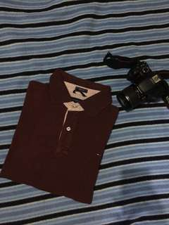 Authentic tommy hilfiger maroon poloshirt
